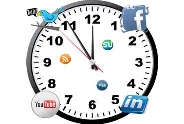 Redes Sociales, horario y optimización